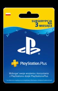 Karta Subskrypcji PlayStation Plus 3 Miesiące
