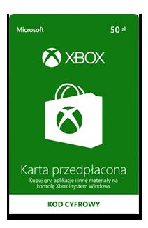 Karta przedpłacona Xbox 50 zł