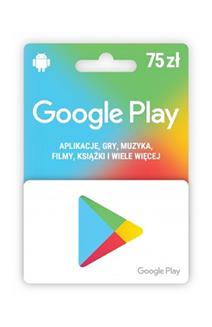 Karta upominkowa Google Play 75 zł