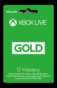 Karta Xbox Live Gold 12 Miesięcy
