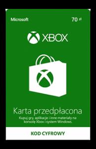 Karta przedpłacona Xbox 70 zł