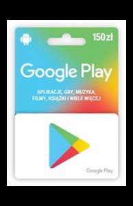 Karta upominkowa Google Play 150 zł