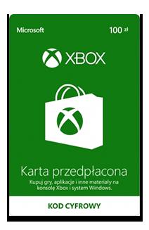 Karta przedpłacona Xbox 100 zł