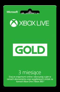 Karta Xbox Live Gold 3 Miesiące