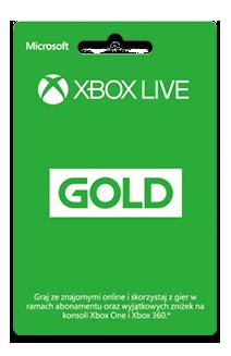 Karta Xbox Live Gold