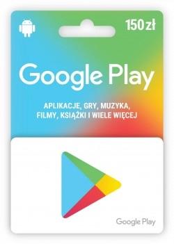 Karta upominkowa Google Play 150zł