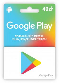 Karta upominkowa Google Play 40zł