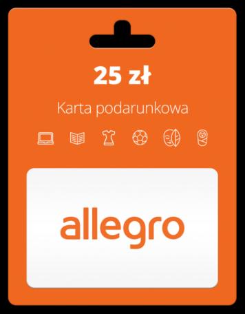 Karta Podarunkowa Allegro 25 Zl Filesshop Sprzedaz Kart Przedplaconych