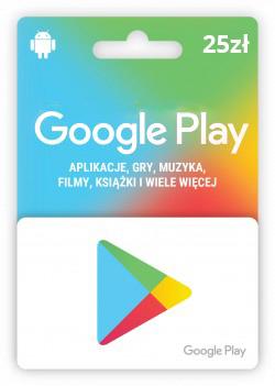 Karta upominkowa Google Play 25 zł